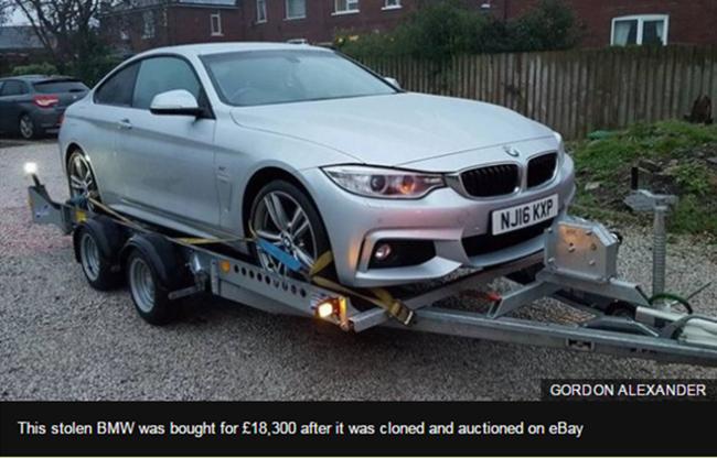 不法分子利用eBay售卖克隆车,已有人上当受骗
