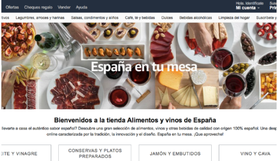 西班牙政府也在亚马逊上开店,专卖食品和红酒