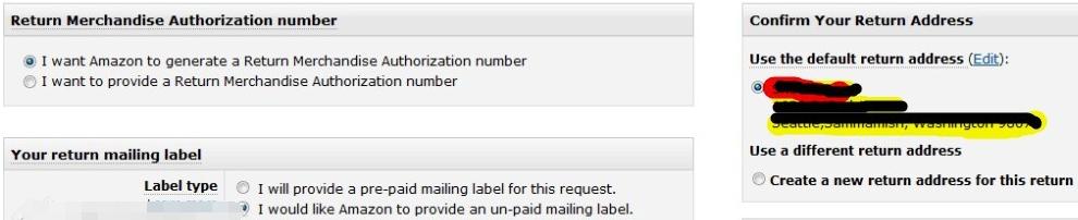 亚马逊退货申请Return Request如何处理