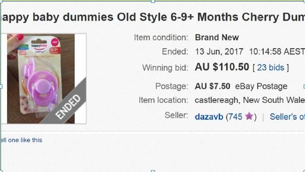 从5美元飙升到110美元,Tommee Tippee旧版安抚奶嘴紧缺