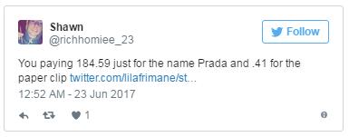亚马逊上不到2美分的回形针,Prada一个卖185美元