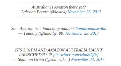 上线失败?截止到下午3点,亚马逊澳大利亚站没有任何更新信息