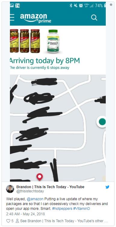 亚马逊扩大Map Tracking到美国所有包裹